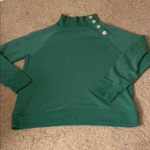 Gorgeous green JCREW size small top button neck